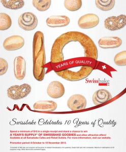 swissbake 10 years anniversary promotions