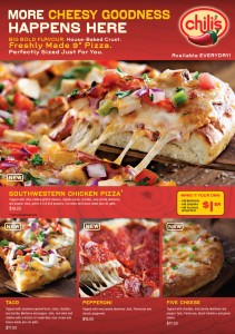 Chilis Pizza Menu