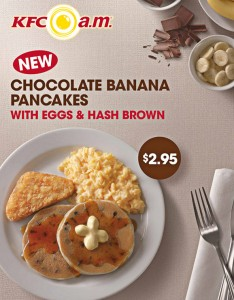 kfc chocolate banana pancakes