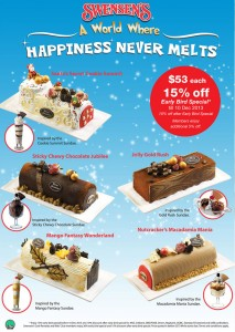 swensens christmas log cakes promotions 2013