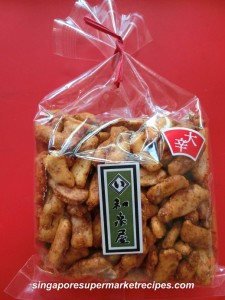 very spicy rice crackers from asakusa japan
