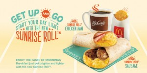 mcdonald sunrise roll new breakfast menu
