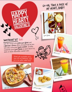 nydc valentine's day dining set meal promotions 2014