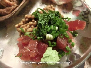 Maguro Natto quick and simple recipes