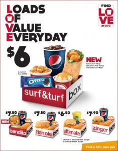 KFC LOVE Surf & Turf Box