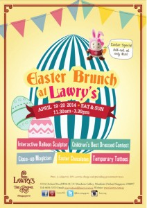 lawry's easter dining promotions 2014
