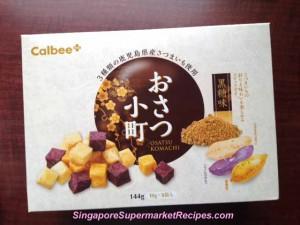 Calbee potato cubes with brown sugar