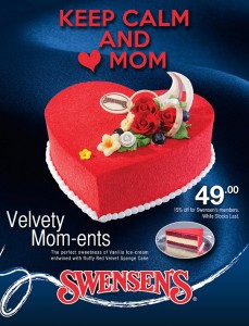 swensen mother's day cake promotions