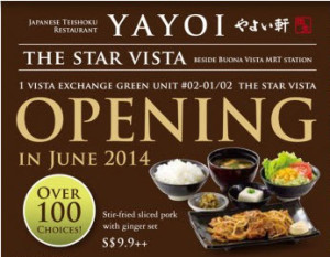 Yayoiken The Star Vista opening