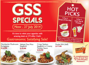 Coffee Club GSS dining promotions