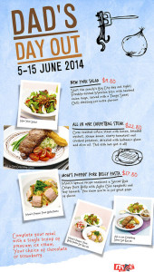 NYDC father's day dining promotions 2014