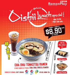 Ramen Play lunch set special promotions