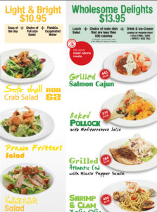 fish & co healthy delights set meal