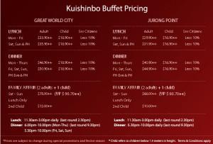 kushinbo buffet spread pricing