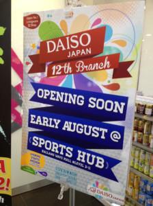 Daiso at Sports Hub Opening