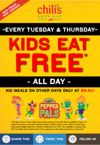 chilis kids eat free tuesday